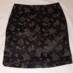 Loft Outlet Asian Style Print Satin Pencil Skirt